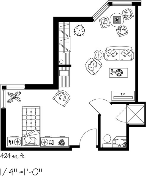 Kensington-Village-furniture-Layout-A