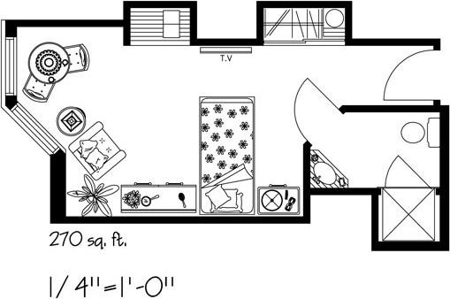 Kensington-Village-furniture-Layout-B-BAY-WINDOW