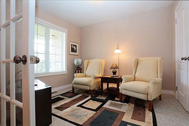 Strathcona Village Homes Front Den or TV Room
