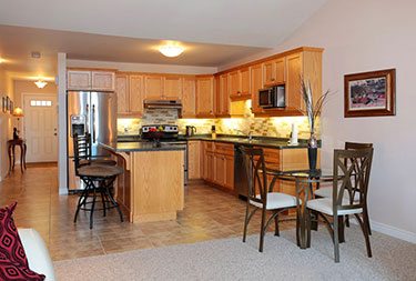 Strathcona Village Homes Open Concept Kitchen and Eating Area